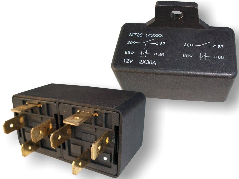 doppellastrelais relais kfz relais 12 volt 2x 30 ampere. Black Bedroom Furniture Sets. Home Design Ideas