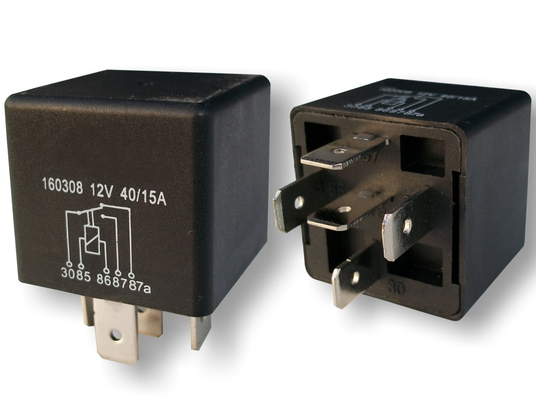 umschaltrelais relais kfz relais 12 volt 40 15 ampere. Black Bedroom Furniture Sets. Home Design Ideas